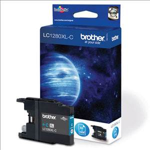 BROTHER LC-1280XLC - Cartouche Encre - Cyan - 1200 pages