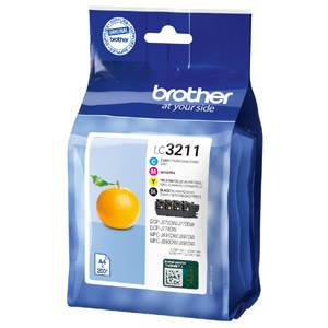 BROTHER LC-3211VAL (LC3211VAL) - Pack x 4 Encres Couleur