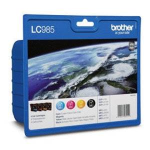 BROTHER LC-985VALBP (LC985VALBP) - Pack x 4 Encres Couleur