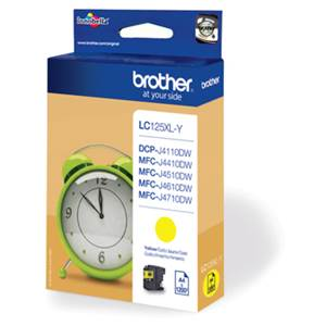 BROTHER LC-125XLY (LC125XLY) - Cartouche Encre Jaune