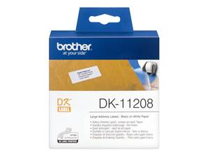 BROTHER DK-11208 - Etiquettes (400) - d'adressage - 38x90 mm