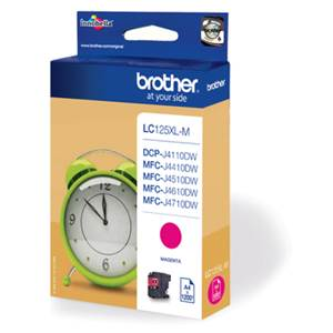 BROTHER LC-125XLM (LC125XLM) - Cartouche Encre Magenta