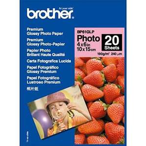 BROTHER BP61GLP - Papier Photo Brillant - 100x150 mm