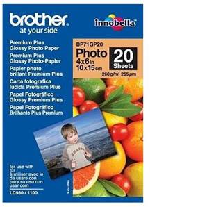 BROTHER BP71GP20 - Papier Photo Brillant - 100x150 mm
