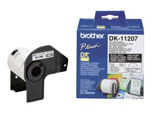 BROTHER DK-11207 - Etiquettes (100) - CD/DVD - 58x58 mm
