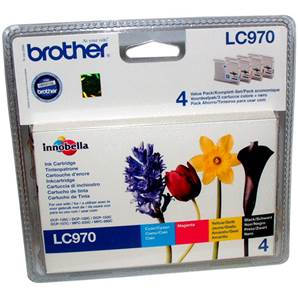 BROTHER LC970VB1P - Pack x 4 Encres - Cyan/Magenta/Jaune/Noir