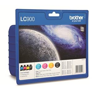 BROTHER LC-900VALBP - Pack x 4 Encres - Noir/Cyan/Magenta/Jaune - 400 pages