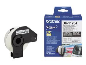 BROTHER DK-11204 - Etiquettes (400) - multi-usage - 17x54 mm